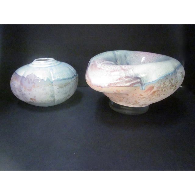 Image of Lucite Sculpture Ceramic Raku Pottery Tony Evans