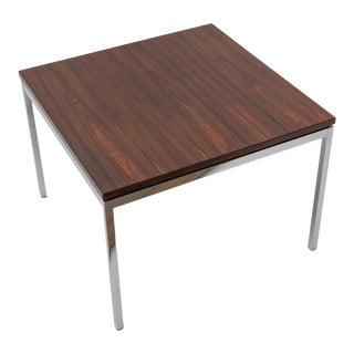 Florence Knoll 1950s Rosewood and Chrome Side Table