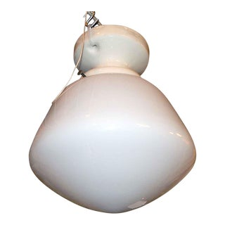 Simple School House Glass Globe with Porcelain Fitter