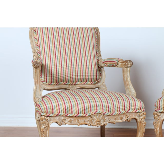 Antique 1920s French Style Armchairs - A Pair - Image 3 of 9