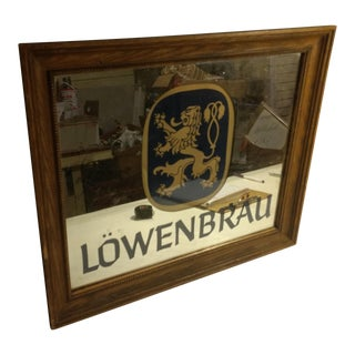 Framed Lowenbrau Beer Mirror