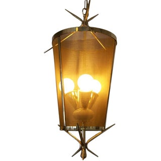 Italian Petite Brass Lantern Hanging Light