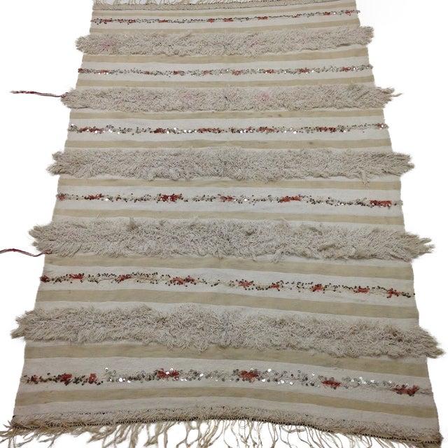 Moroccan Handira Wedding Blanket - Image 1 of 4