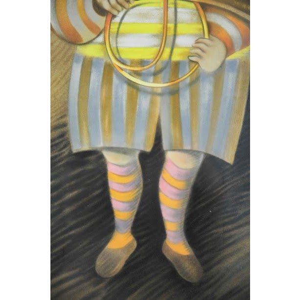 """Image of Signed & Numbered Lithograph """"French Horn Player"""" by Graciela Rodo Boulanger"""
