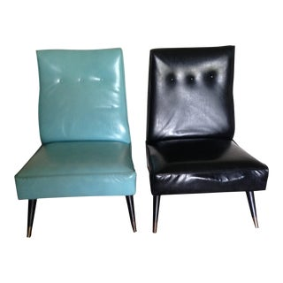 Koehler Mid-Century Vinyl Side Chairs - A Pair