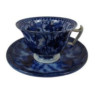 Flow Blue V&B Villeroy Boch Cup & Saucer
