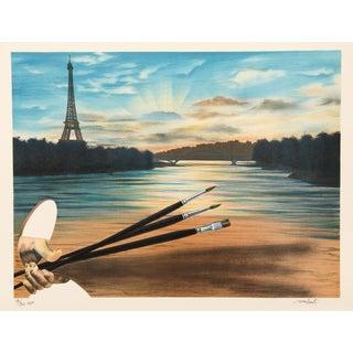 """Antonio Recalcati """"The Bridge of the Arts"""" Lithograph"""