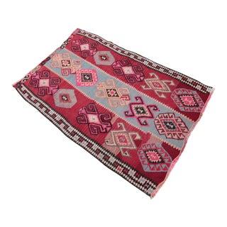 Hand Woven Turkish Anatolian Kilim - 4'3'' x 2'8''
