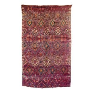 "Vintage Beni M'Guild Moroccan Rug, 6'0"" x 9'6"" feet"