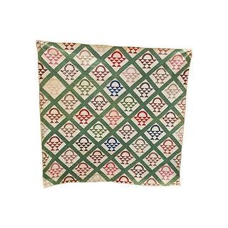 19th C. Pennsylvania Flower Basket Quilt
