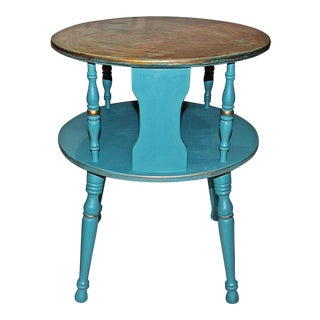 Round Copper Top Side Table
