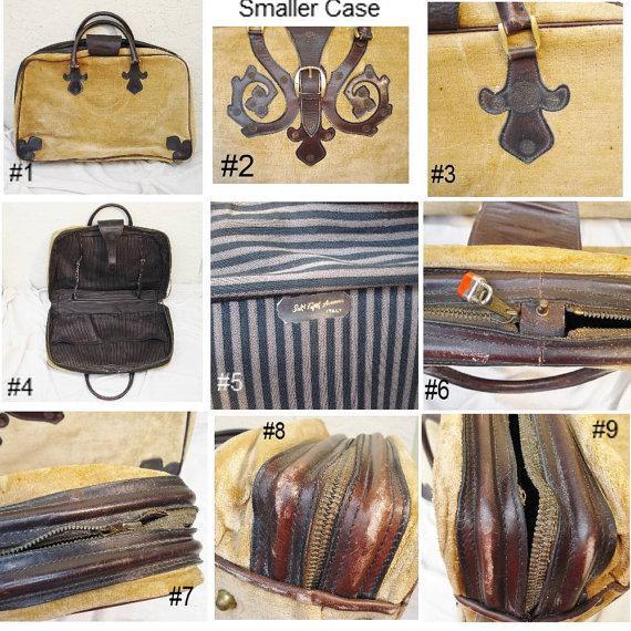Saks Fifth Avenue Vintage Italian Suitcases - Pair - Image 5 of 6
