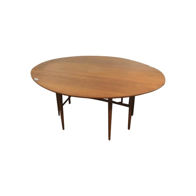 Mid-Century Modern Carved Drop-Leaf Dining Table - Image 1 of 5