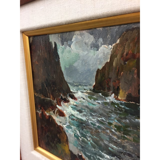 Framed & Signed Seascape Oil Painting - Image 9 of 10
