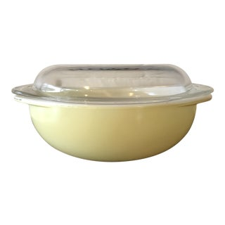 Vintage Pyrex Pale Yellow Casserole