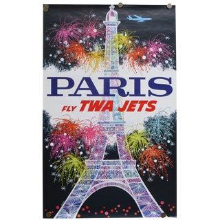 David Klein Original Vintage TWA Paris Poster