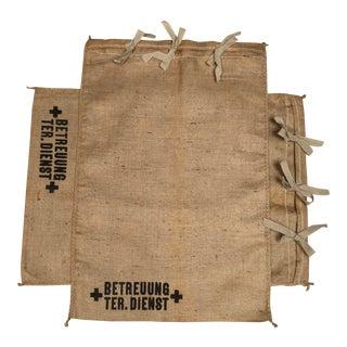 Vintage Grain Sack Pillow Shams - A Pair