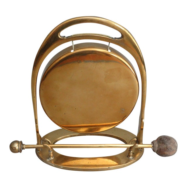 Art Deco Edwardian Brass Table Gong - Image 1 of 6