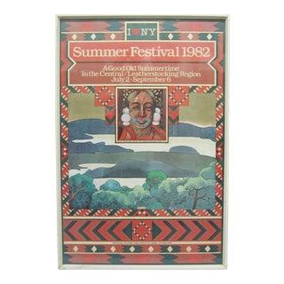 Original 1982 Poster for the New York Summer Festival by Milton Glaser