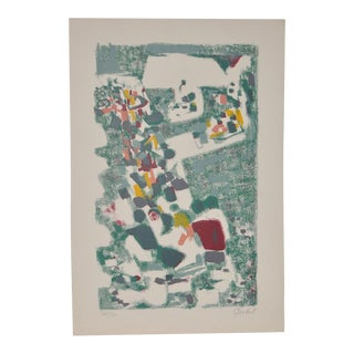 1950s Vintage Original Pencil Signed Lithograph by Alexandre Sacha Garbell