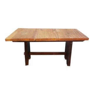 Rustic Mission Wood Slab Dining Table Desk