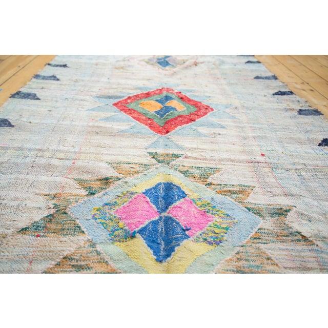 "Vintage Moroccan Rag Rug - 4'1"" X 8'6"" - Image 5 of 8"