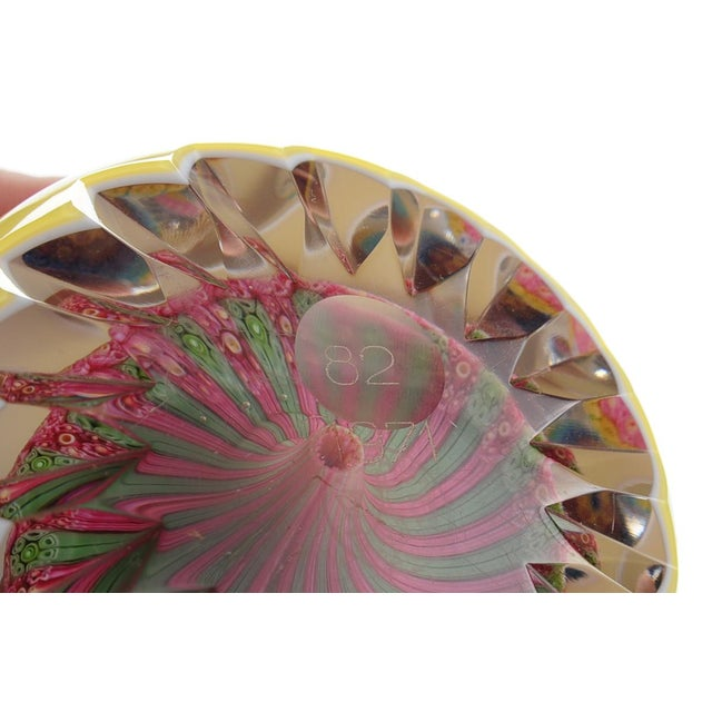 Baccarat Double Overlay Yellow Glass Paperweight - Image 5 of 8