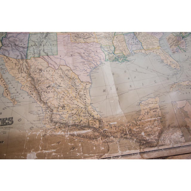 USA & Mexico Antique Pull Down Map - Image 8 of 10