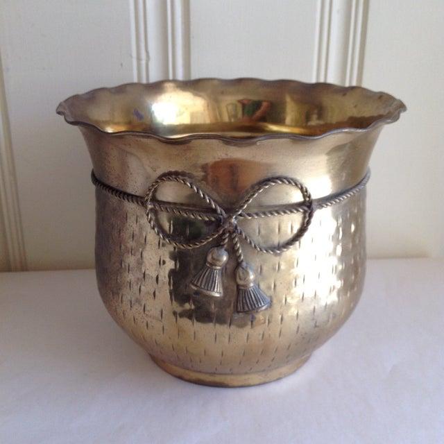 Vintage Etched Metal Brass Vessel - Image 9 of 9