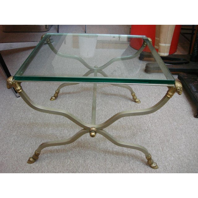 Image of Italian Ramshead Finnial Cocktail Table (Stamped on Foot)