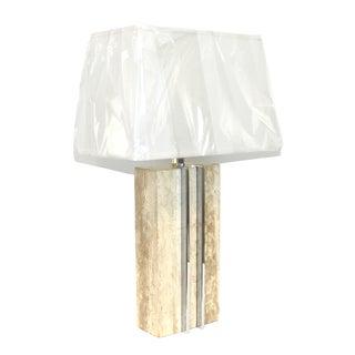 1960s Raymor Marble and Chrome Skyscraper Lamp