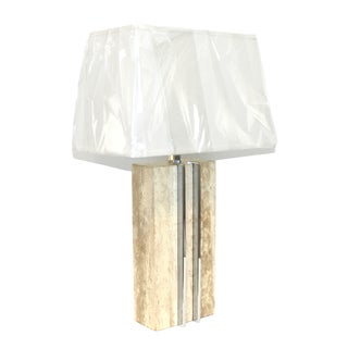 1960s Raymor Marble and Chrome Skyscraper Lamp