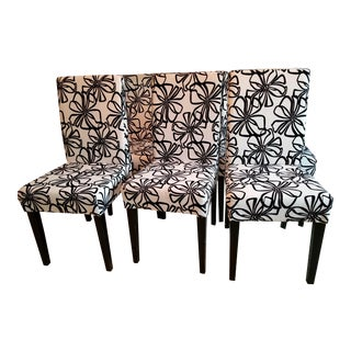 Black and White Modern Parson Dining Chairs - Set 6