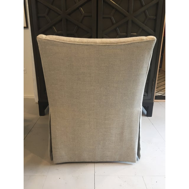 """Century Furniture Linen Skirted """"Coloney"""" Chair - Image 4 of 7"""
