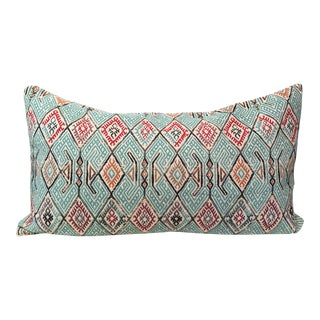 Turquoise Patterned Kilim Pillow