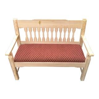 Custom Pine Southwestern Bench