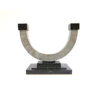 Maitland Smith Memphis Style Stone Candleholder
