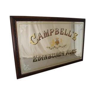 Campbells Edinburgh Ales Reverse on Glass Large Pub Mirror