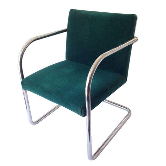 Margot Chrome Cantilevered Armchair - Image 1 of 2