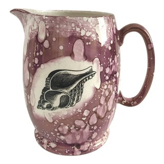 Gray's Pottery Mottahedeh Lustre Shell Pitcher
