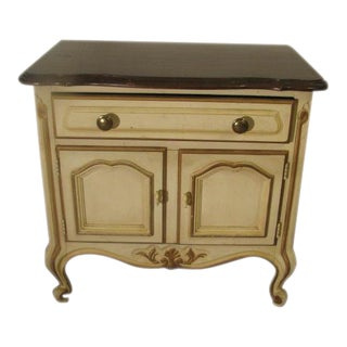 Drexel French Provincial Antique White Night Stand