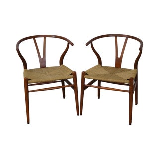 Hans Wegner Carl Hansen & Son Danish Modern Wishbone Chairs- A Pair