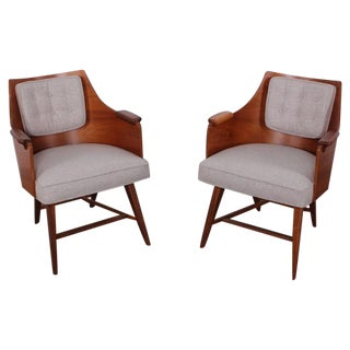 Rare Pair of Lounge Chairs by Edward Wormley for Dunbar