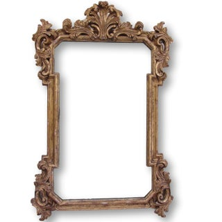 Large Traditional Baroque Gold Carved Mirror