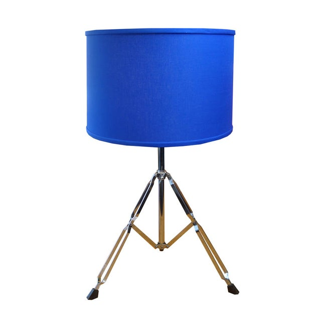 Image of Blue Drum Kit-Themed Lamp