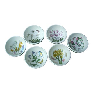 Portmeirion Floral Dessert Bowls - Set of 6
