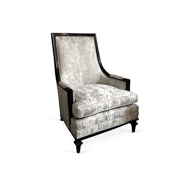 Baker Attri. Vintage 1956 High-Back Club Chair - Image 8 of 8