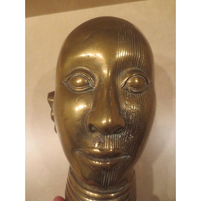 1980 Dolbi Cashier Brass Female Head - Image 7 of 7
