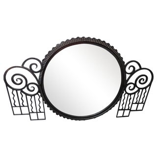 Large Wrought Iron Art Deco Modernism Mirror