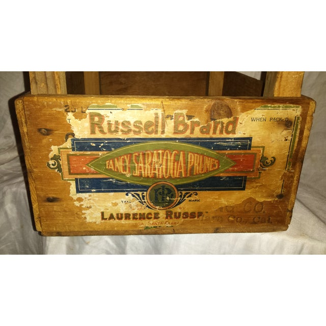 Antique Prune Harvest Advertising Crate Stool Chairish